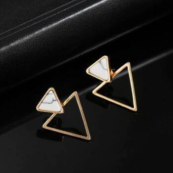 Simple Triangle Shaped Stud Earrings Earrings 8d255f28538fbae46aeae7: Gold