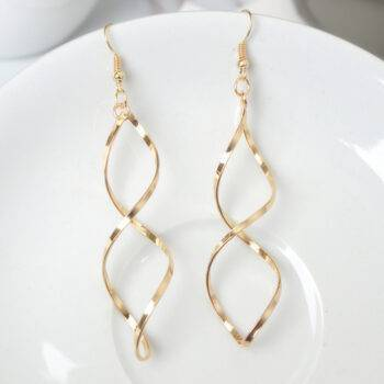 Double Loop Drop Earrings Earrings 8d255f28538fbae46aeae7: Gold|Silver
