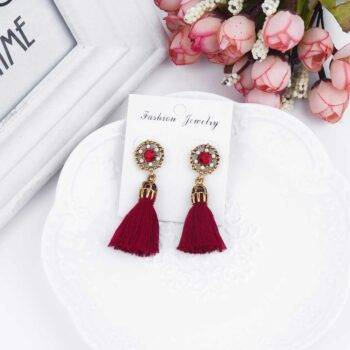 Women's Vintage Tassel Earrings Earrings cb5feb1b7314637725a2e7: Beige|Black|Gray|Red
