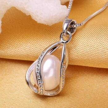 Elegant Pearl Drop Pendant Necklace Chains & Necklaces cb5feb1b7314637725a2e7: Black|Pink|Purple|White