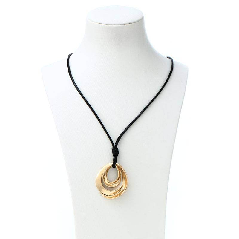 Long Necklace with Creative Pendant Chains & Necklaces cb5feb1b7314637725a2e7: Gold Silver