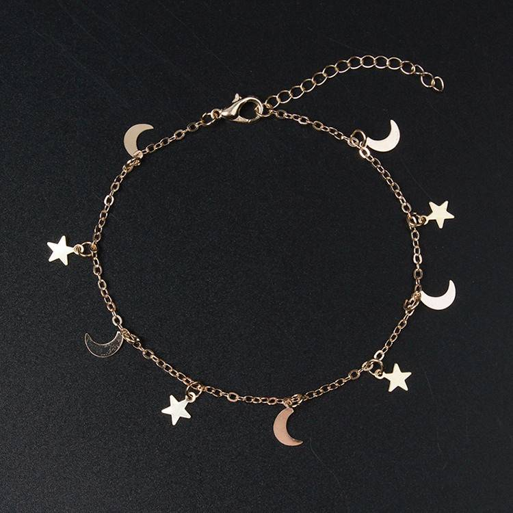 Moon and Star Charms Bracelets Bracelets 8d255f28538fbae46aeae7: Gold|Silver