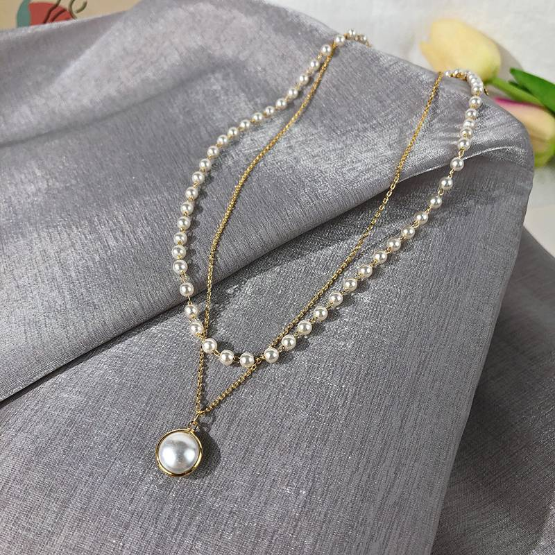 Retro Pearls Choker for Women Chains & Necklaces 8d255f28538fbae46aeae7: Gold