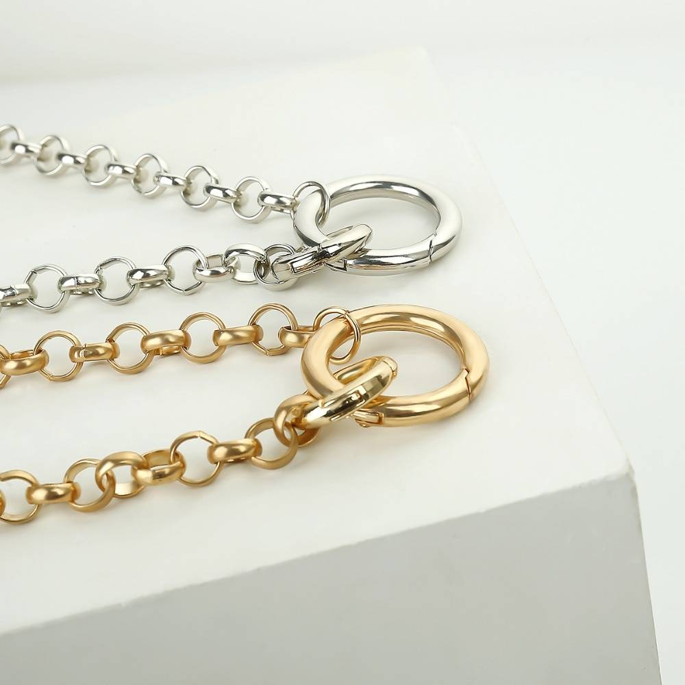 Choker Necklaces with Circle Shaped Pendants Chains & Necklaces 8d255f28538fbae46aeae7: Gold|Silver