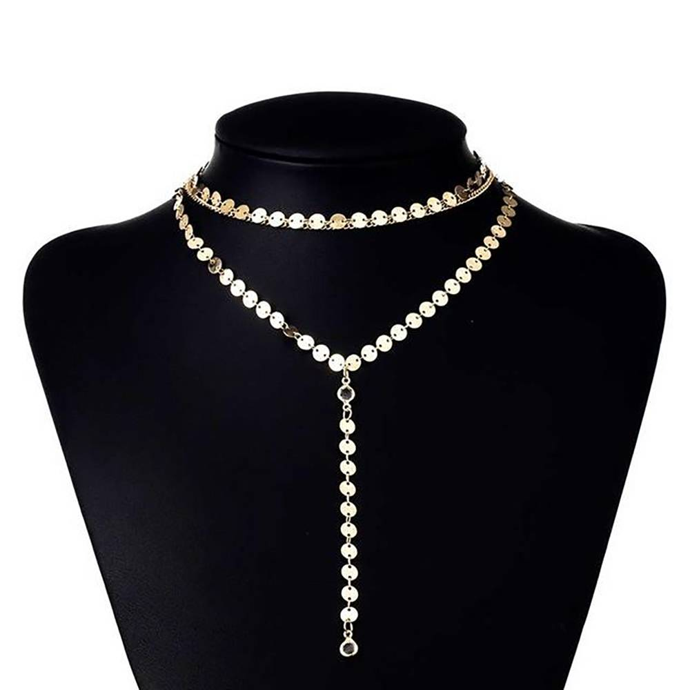 Women's Layered Gold Plated Necklace Chains & Necklaces 8d255f28538fbae46aeae7: 1|2