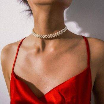 Women's Pearl Choker Necklace Chains & Necklaces 9f5922eed836682b5c12d7: White