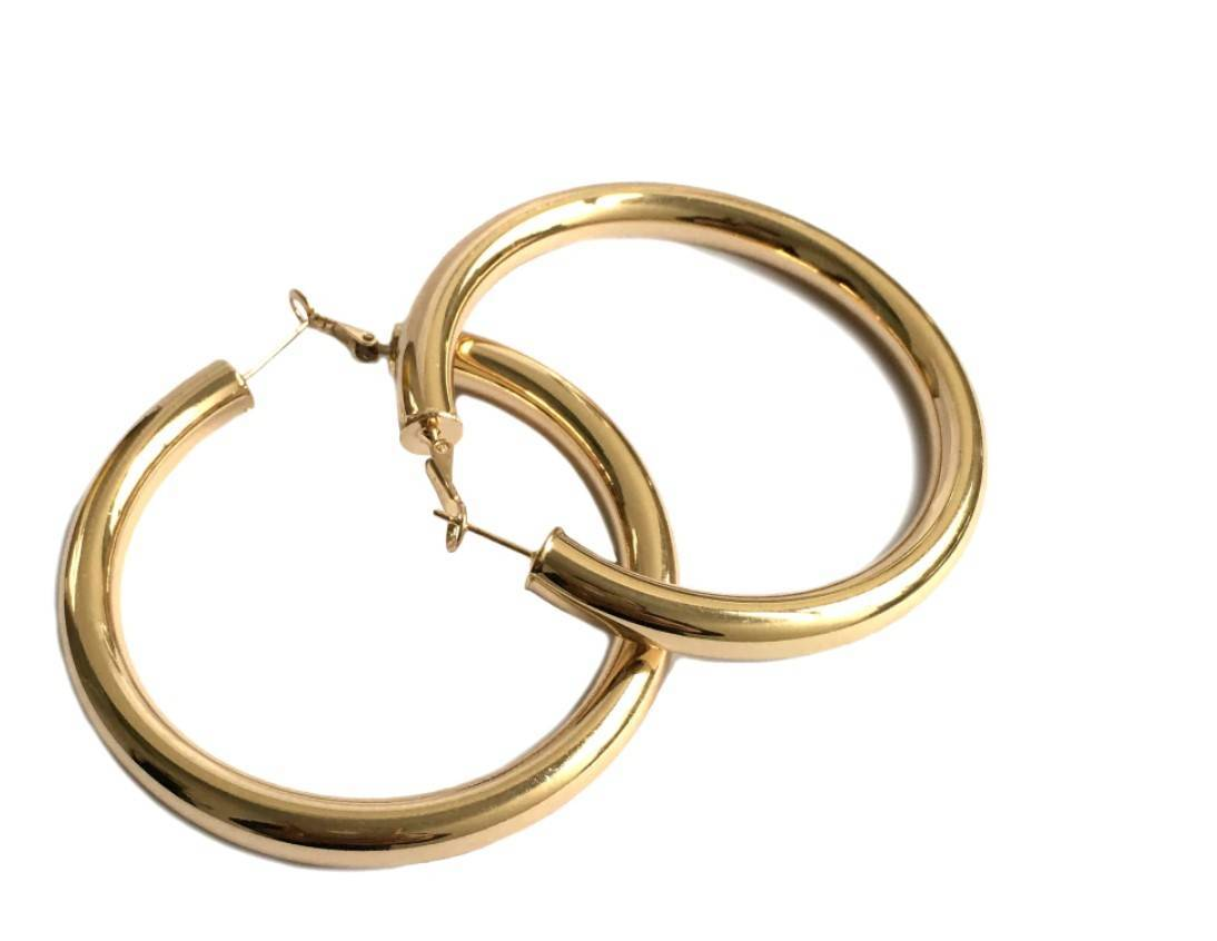 Women's Wide Hoop Earrings