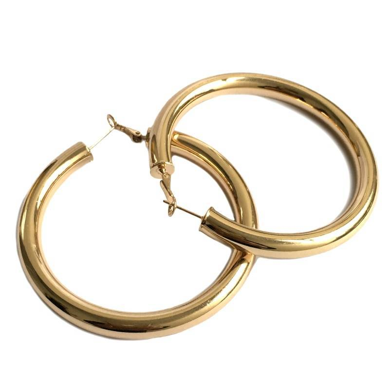 Women's Wide Hoop Earrings Earrings 8d255f28538fbae46aeae7: L Gold|L Silver|M Open Gold|M Open Silver|S Gold|S Silver