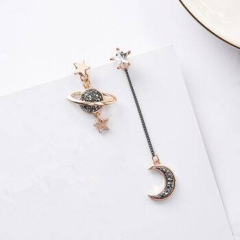Asymmetric Night Sky Drop Earrings Earrings