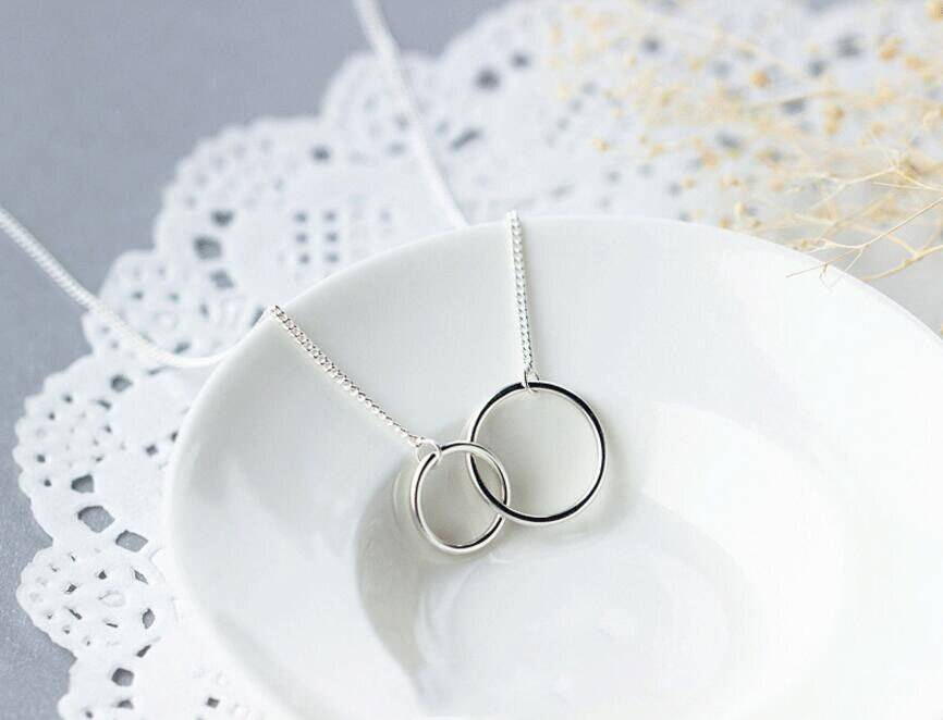 Circle Art Silver Patterned Necklace for Jewelry Making Uncategorized Brand Name: anenjery