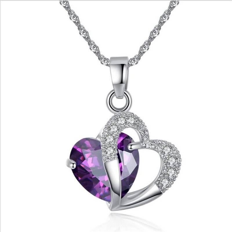 Heart Art Silver Creative Arts Necklace Chains & Necklaces 8d255f28538fbae46aeae7: Blue|pink|Purple|White|yellow